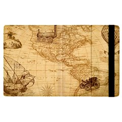 Map Discovery America Ship Train Apple Ipad Pro 12 9   Flip Case by Samandel