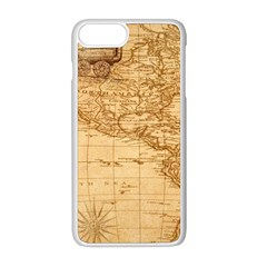 Map Discovery America Ship Train Apple Iphone 8 Plus Seamless Case (white) by Samandel