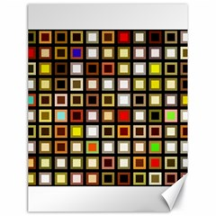 Squares Colorful Texture Modern Art Canvas 18  X 24