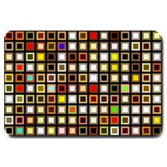 Squares Colorful Texture Modern Art Large Doormat