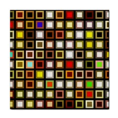 Squares Colorful Texture Modern Art Face Towel