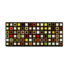 Squares Colorful Texture Modern Art Hand Towel