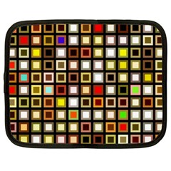 Squares Colorful Texture Modern Art Netbook Case (xl) by Samandel