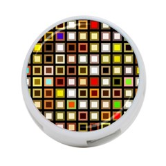Squares Colorful Texture Modern Art 4 Port Usb Hub (one Side)