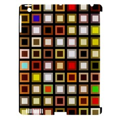 Squares Colorful Texture Modern Art Apple Ipad 3/4 Hardshell Case (compatible With Smart Cover)