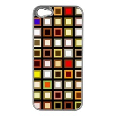 Squares Colorful Texture Modern Art Apple Iphone 5 Case (silver)