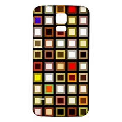 Squares Colorful Texture Modern Art Samsung Galaxy S5 Back Case (white)
