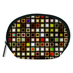 Squares Colorful Texture Modern Art Accessory Pouch (medium)