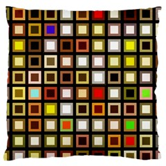 Squares Colorful Texture Modern Art Standard Flano Cushion Case (one Side)