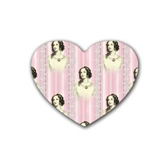 Victorian 1568436 1920 Rubber Coaster (heart)  by vintage2030