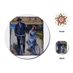 Bicycle 1763283 1280 Playing Cards (round) by vintage2030