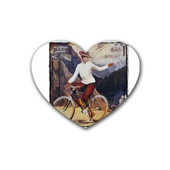 Bicycle 1763235 1280 Rubber Coaster (heart)  by vintage2030
