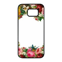 Flower 1770191 1920 Samsung Galaxy S7 Edge Black Seamless Case by vintage2030