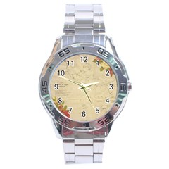 Background 1775383 1920 Stainless Steel Analogue Watch by vintage2030