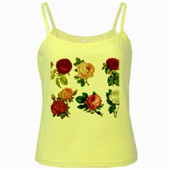 Roses 1770165 1920 Yellow Spaghetti Tank by vintage2030