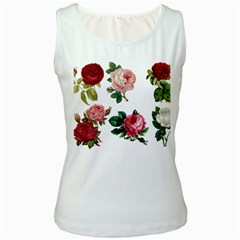 Roses 1770165 1920 Women s White Tank Top by vintage2030