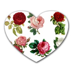 Roses 1770165 1920 Heart Mousepads by vintage2030