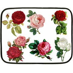 Roses 1770165 1920 Double Sided Fleece Blanket (mini)  by vintage2030