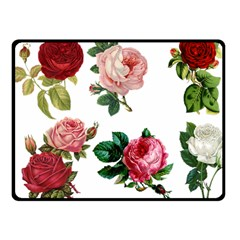 Roses 1770165 1920 Fleece Blanket (small) by vintage2030