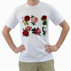Roses 1770165 1920 Men s T-shirt (white)  by vintage2030