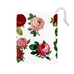 Roses 1770165 1920 Drawstring Pouch (large) by vintage2030