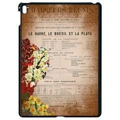Letter Floral Apple Ipad Pro 9 7   Black Seamless Case by vintage2030