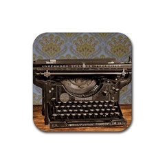 Typewriter Rubber Coaster (square)  by vintage2030
