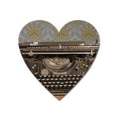Typewriter Heart Magnet by vintage2030