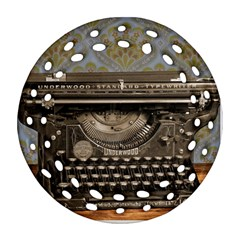 Typewriter Round Filigree Ornament (two Sides) by vintage2030