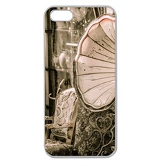 Flea Market Redord Player Apple Seamless Iphone 5 Case (clear) by vintage2030