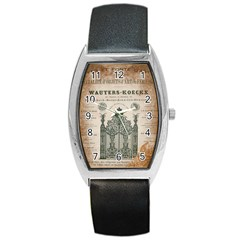 Building News Barrel Style Metal Watch by vintage2030