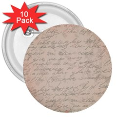 Letter 3  Buttons (10 Pack)  by vintage2030