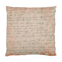 Letter Standard Cushion Case (one Side) by vintage2030