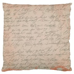 Letter Large Cushion Case (two Sides) by vintage2030