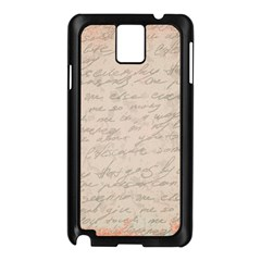 Letter Samsung Galaxy Note 3 N9005 Case (black) by vintage2030