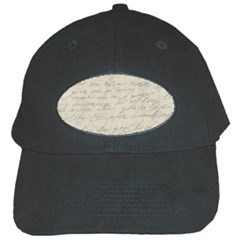 Handwritten Letter 2 Black Cap by vintage2030