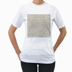 Handwritten Letter 2 Women s T Shirt (white) (two Sided) by vintage2030