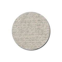 Handwritten Letter 2 Rubber Round Coaster (4 Pack)  by vintage2030