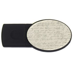 Handwritten Letter 2 Usb Flash Drive Oval (4 Gb) by vintage2030