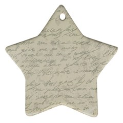 Handwritten Letter 2 Star Ornament (two Sides) by vintage2030