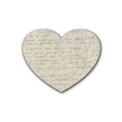 Handwritten Letter 2 Heart Coaster (4 Pack)  by vintage2030