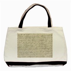 Handwritten Letter 2 Basic Tote Bag (two Sides) by vintage2030