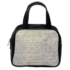 Handwritten Letter 2 Classic Handbag (one Side) by vintage2030