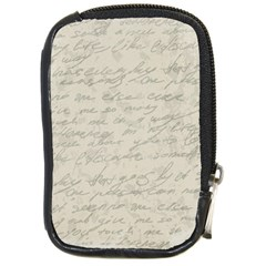 Handwritten Letter 2 Compact Camera Leather Case by vintage2030