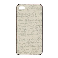 Handwritten Letter 2 Apple Iphone 4/4s Seamless Case (black) by vintage2030