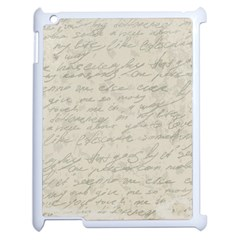 Handwritten Letter 2 Apple Ipad 2 Case (white) by vintage2030