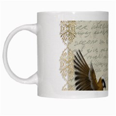 Tag Bird White Mugs by vintage2030