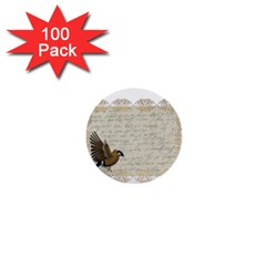 Tag Bird 1  Mini Buttons (100 Pack)  by vintage2030