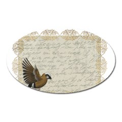 Tag Bird Oval Magnet by vintage2030