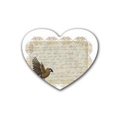 Tag Bird Heart Coaster (4 Pack)  by vintage2030
